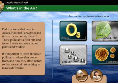 Acadia National Park Program Screen 1