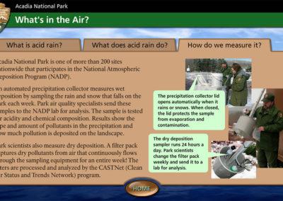 Acadia National Park Program Screen 6