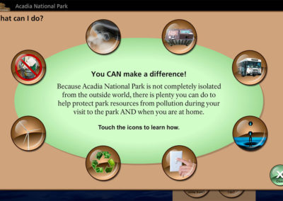 Acadia National Park Program Screen Sample 5