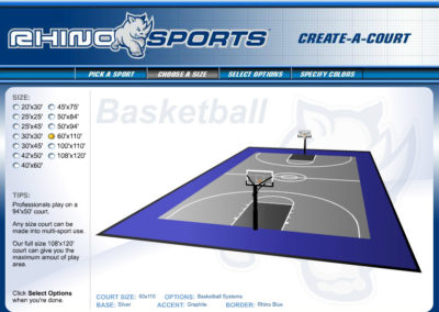 Rhino Sports Court Builder Screen 2